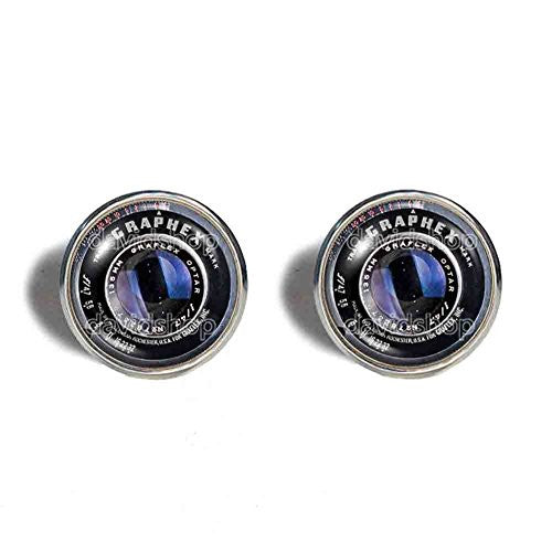 Vintage Old Camera Lens Cufflinks Cuff links Symbol Picture Art Fashion Jewelry