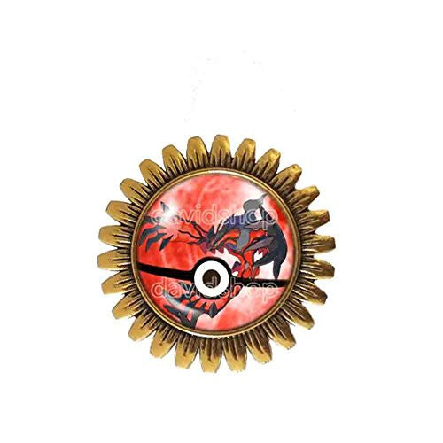 Pokemon Y Yveltal Legendary Brooch Badge Pin Symbol Anime EX Pokeball Pendant Jewelry Cosplay Cute Gift - DDavid'SHOP