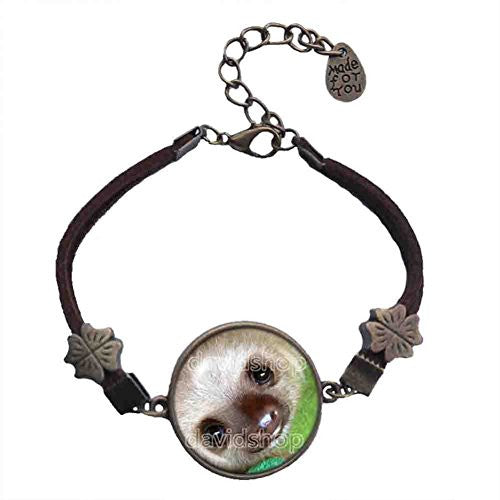 Baby Sloth Pendant Bracelet Symbol Fashion Jewelry Animal Pet Cosplay