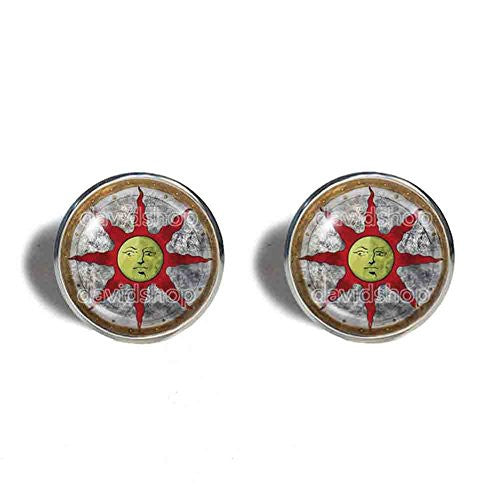 Dark Souls Solaire of Astora Sun Cufflinks Cuff links Sunlight Shield Symbol