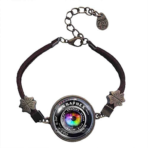 Colorful Eyes Vintage Old Camera Lens Bracelet Symbol Picture Art Pendant Fashion Jewelry - DDavid'SHOP