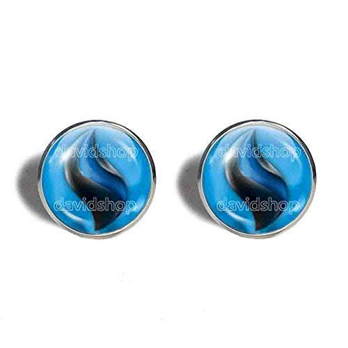 Pokemon Charizardite X Mega Stone Cufflinks Cuff links Fashion Jewelry Charizard Cosplay Mens - DDavid'SHOP