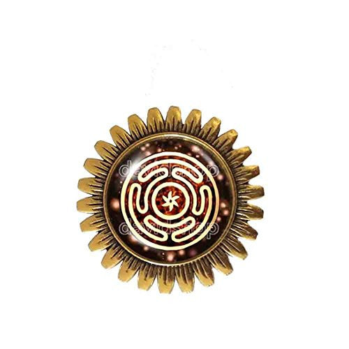 Wheel of Hecate Brooch Badge Pin Picture Art Fashion Jewelry Cosplay Charm