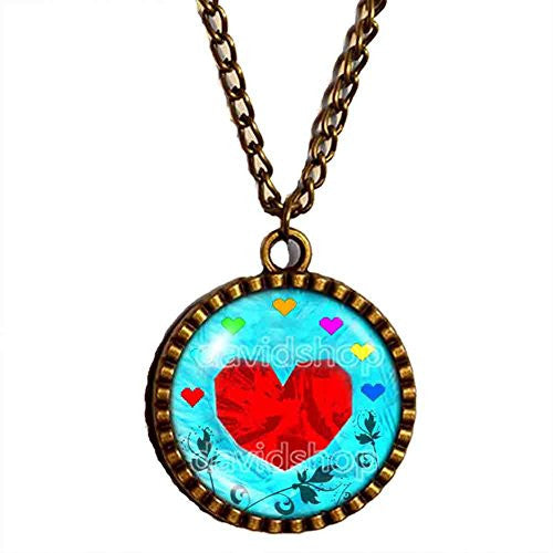Undertale Necklace Heart Pendant Jewelry Chain Cosplay flower