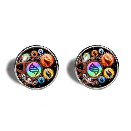 Pokemon Keystone Mega Stone Cufflinks Cuff links Lucarionite Heracronite  Steampunk