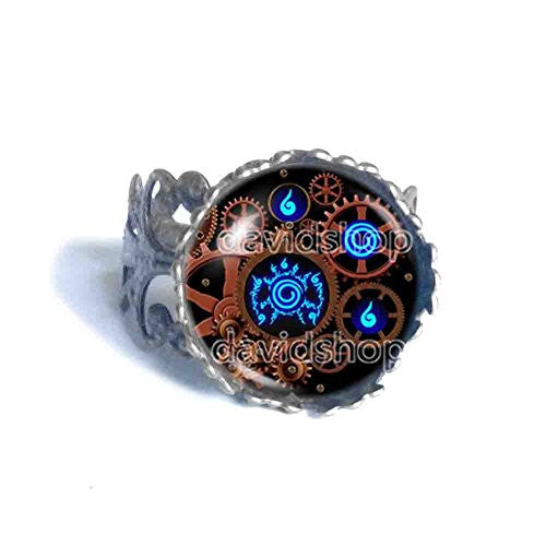 Naruto Seal Ring Fashion Jewelry Anime Cosplay Symbol Gear Steampunk