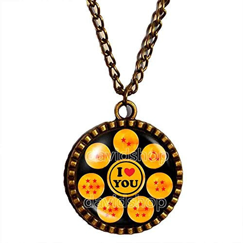 Dragon Ball Z Necklace I Love You Pendant