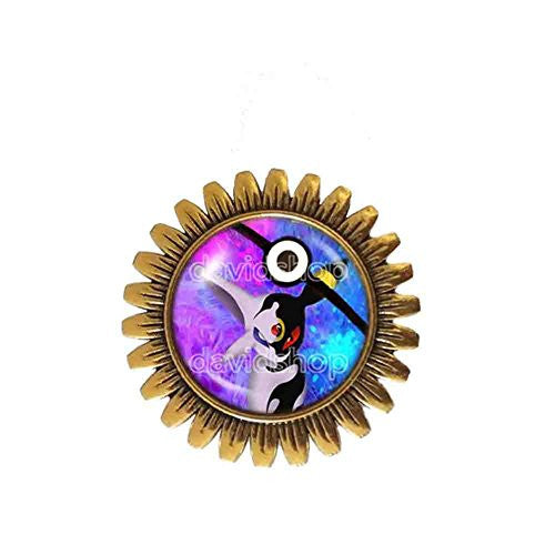 Pokemon Umbreon Espeon Pokeball Brooch Badge Pin Anime Fashion Jewelry Cosplay Blue Purple - DDavid'SHOP