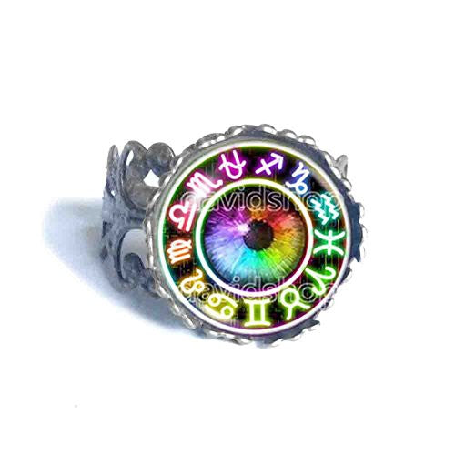 Colorful Eyes Homestuck Ring God Mandala Constellation Zodiac