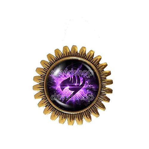 Fairy Tail Guild Marks Brooch Badge Pin Symbol Jewelry Cute Gift Cosplay Purple Wing Natsu Dragneel