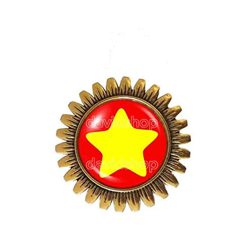 Steven Universe Star Brooch Badge Pin Fashion Jewelry Cosplay