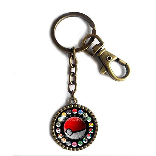 Pokemon Pokeball Keychain Keyring Car Cosplay Gift Chain Cute Poke ball New