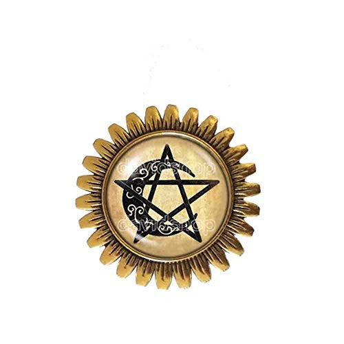 Wiccan Symbol Brooch Badge Pin