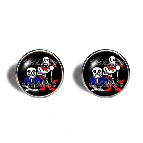 Undertale Sans Papyrus Cufflinks Cuff links Jewelry Cosplay Skeleton