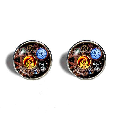 Avatar the last Airbender Cufflinks  Legend of Korra Steampunk Gear Mens