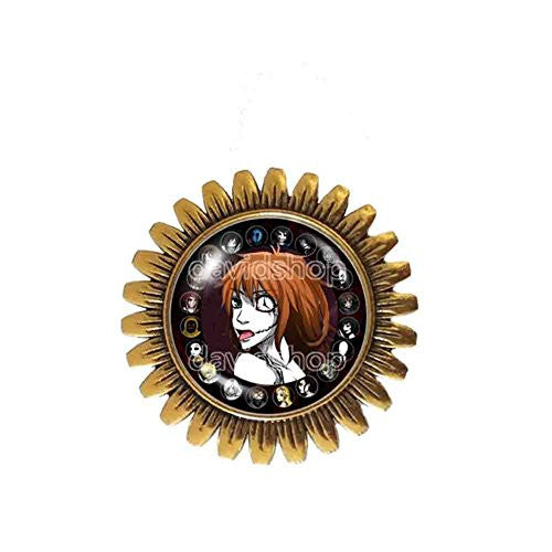 Creepypasta CREEPY PASTA Brooch Badge Pin Symbol Clockwork Your Time Is Up JEFF