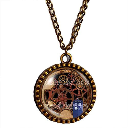 Dr Doctor Who Gallifreyan Necklace Symbol Tardis Pendant Fashion Jewelry Cosplay Cute Gear Steampunk