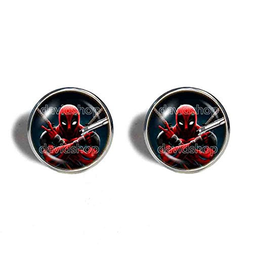 Deadpool Superhero Cufflinks Cuff links Fashion Jewelry Cute Cosplay Symbol