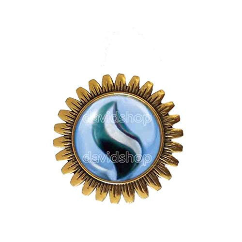 Pokemon Abomasite Mega Stone Brooch Badge Pin Anime Fashion Jewelry Abomasnow Cosplay