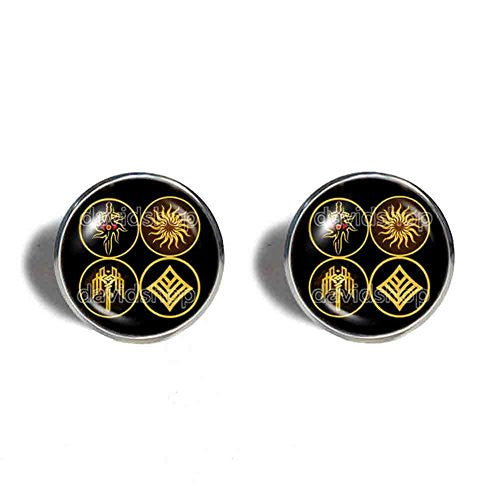 Kirkwall Dragon Age Cufflinks Cuff links Symbol Sign Eye Jewelry Cosplay Cute Gift