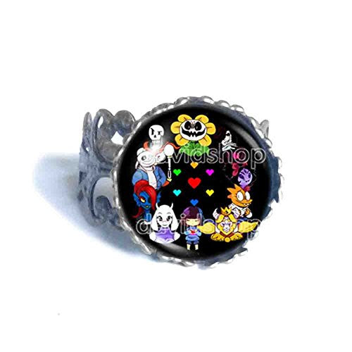 Undertale Ring Mettaton Undyne Asriel Dreemurr Sans Papyrus Jewelry Cosplay Gift For Friend