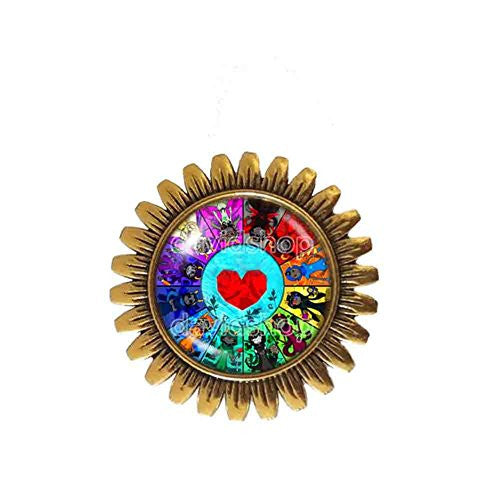 Heart Container Homestuck Brooch Badge Pin God Mandala Symbol