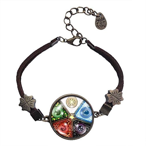Magic the Gathering Bracelet Colored Round Pendant Mana Jewelry Gift Cosplay MTG