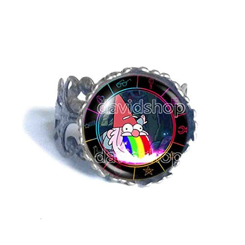 Gravity Falls Rainbow Gnome Ring Jewelry Steve Cosplay