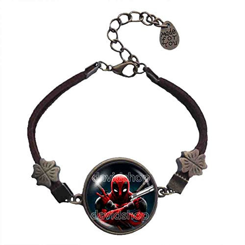 Deadpool Superhero Bracelet Fashion Jewelry Cosplay Symbol