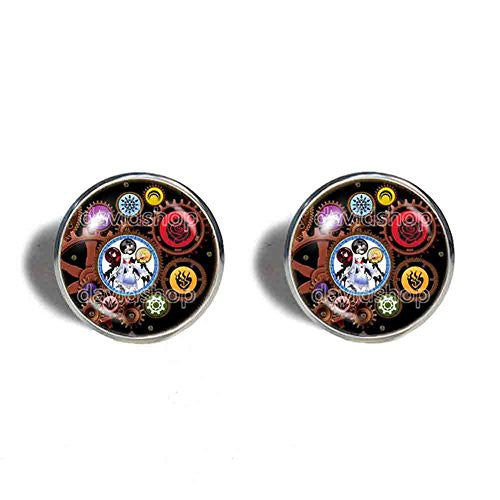 RWBY Cufflinks Cuff links Blake Yang Ruby Mark Steampunk Weiss Cosplay Gear