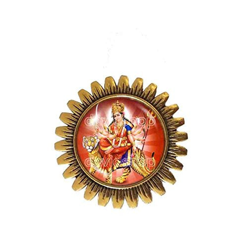 Devi Durga Shakti Maa Brooch Badge Pin Hindu Gods Goddesses Pendant Fashion Jewelry