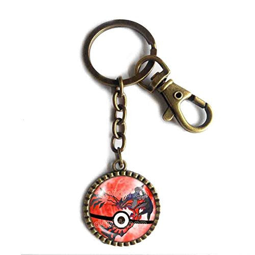 Pokemon Y Yveltal Legendary Keychain Key Chain Key Ring Cute Keyring Car Symbol Pendant Anime EX Pokeball Cosplay Cute Gift - DDavid'SHOP