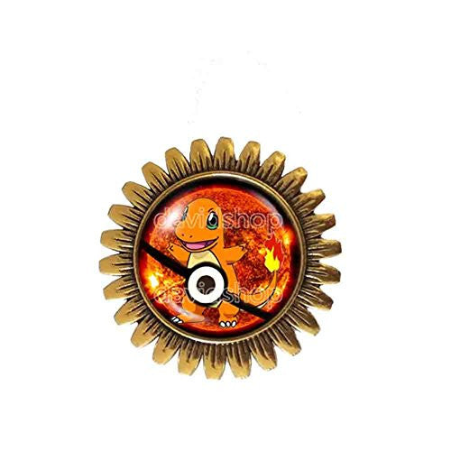 Pokemon Charmander Pokeball Brooch Badge Pin Symbol Anime Pendant Fashion Jewelry Cosplay Cute - DDavid'SHOP