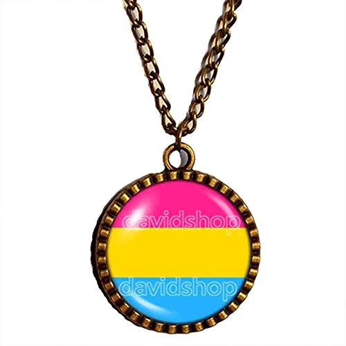 Pan Pride Necklace Pendant Flag Pansexual Jewelry