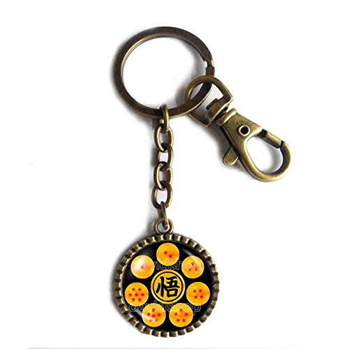 Dragon Ball Z Goku Symbol Keychain Cute Keyring Anime Cosplay