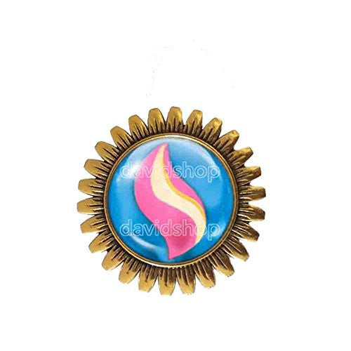 Pokemon Medichamite Mega Stone Brooch Badge Pin Anime Fashion Jewelry Medicham Cosplay