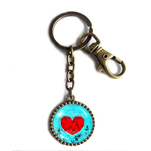 The Legend Of Zelda Keychain Keyring Car Symbol Heart Container Ocarina of Time Cosplay Charm