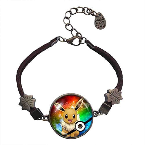Pokemon Eevee Bracelet Symbol Eeveelution Anime Pokeball Pendant Jewelry Cosplay Cute Gift - DDavid'SHOP
