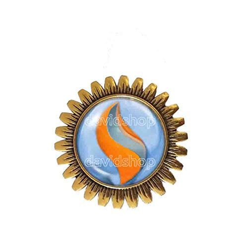 Pokemon Swampertite Mega Stone Brooch Badge Pin Anime Fashion Jewelry Swampert Cosplay