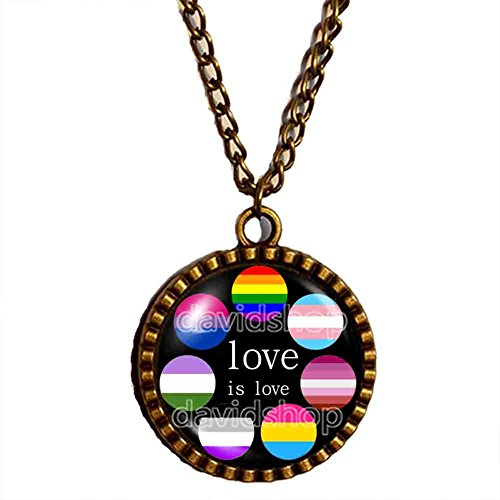 Love Is Love Necklace LGBT Pendant Jewelry