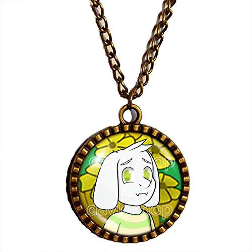 Undertale Asriel Dreemurr Necklace Pendant Jewelry Cosplay Cute Gift