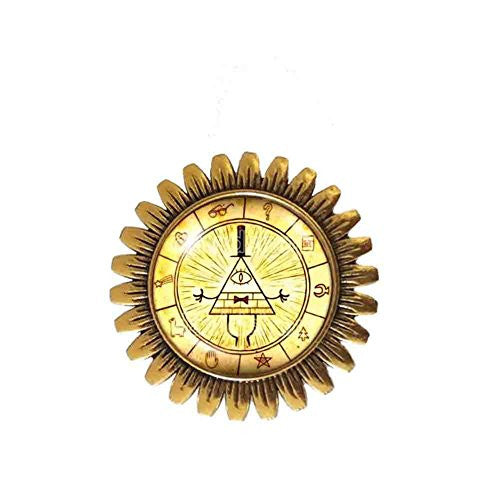 Gravity Falls Bill Cipher Wheel Brooch Badge Pin Fashion Jewelry Cute Gift Symbol Cosplay
