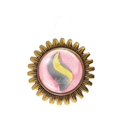 Pokemon Banettite Mega Stone Brooch Badge Pin Anime Fashion Jewelry Banette Cosplay