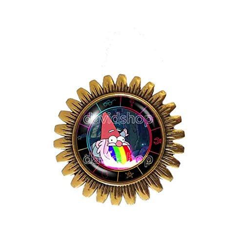 Gravity Falls Rainbow Gnome Brooch Badge Pin Jewelry Steve Cosplay