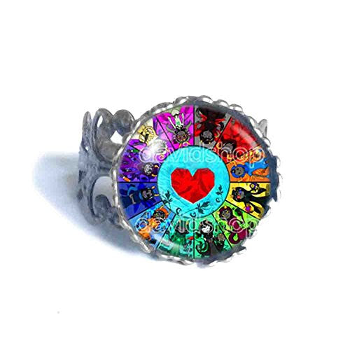 Homestuck Ring God Mandala Cosplay Heart Container Fashion Jewelry Zodiac