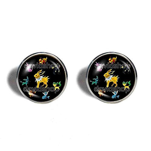 Pokemon Eevee Cufflinks Cuff links Fashion Jewelry Eeveelution Cosplay - DDavid'SHOP