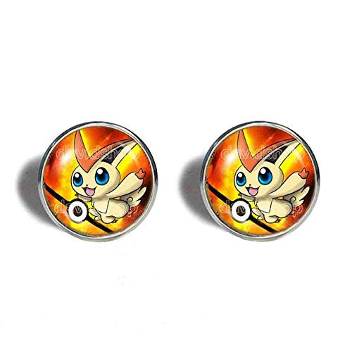 Pokemon Victini Cufflinks Cuff links Fashion Jewelry Pokeball Cosplay - DDavid'SHOP