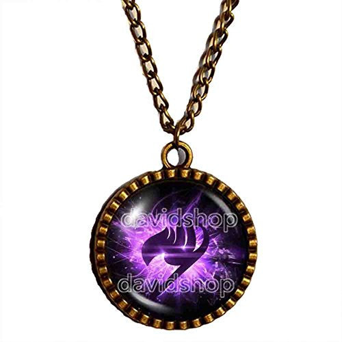 Fairy Tail Guild Marks Necklace Symbol Pendant Jewelry Cute Gift Cosplay Purple Wing Natsu Dragneel