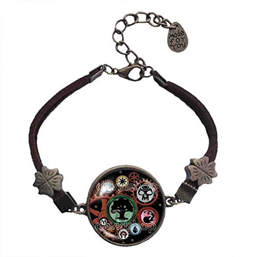 Magic the Gathering Bracelet Steampunk Pendant Fashion Mana Jewelry Gift Cosplay MTG Gear