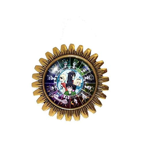 Homestuck Brooch Badge Pin God Mandala Cosplay Fashion Jewelry Zodiac